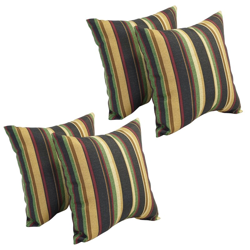 Bayou Breeze Abril Indoor Outdoor Striped Throw Pillow Wayfair