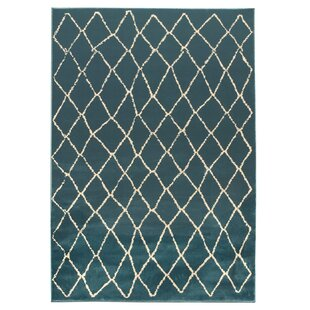 Torgerson Teal Blue Indoor/Outdoor Area Rug