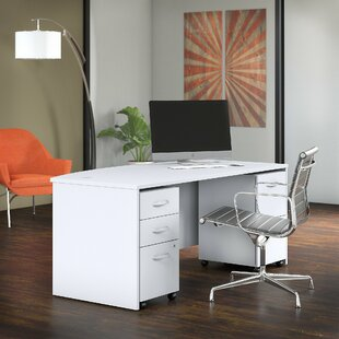 Studio C Bow 3 Piece Desk Office Suite by Bush Business Furniture 2019 Sale