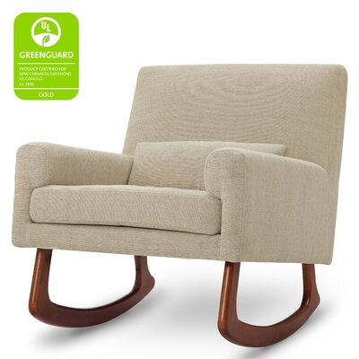 Sleepytime Rocking Chair Leg Color: Walnut, Upholstery Color: Beige