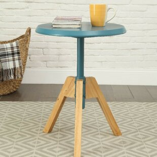 Yost Transitional Round Wooden End Table
