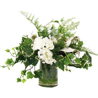 Creative Displays, Inc. Faux English Ivy Hydrangea Centerpiece in Vase