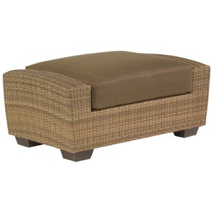Woodard Saddleback Ottoman with Cushion
