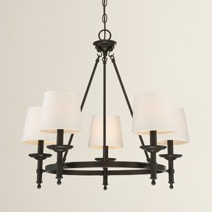Birch Lane™ Glastonbury 5-Light Wagon Wheel Chandelier