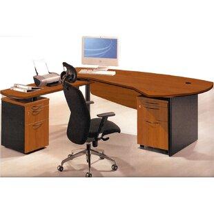 OfisELITE Executive Management Office 3 Piece L-Shaped Desk and Filing Set