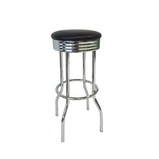 Anchukaitis Retro 30 Swivel Bar Stool (Set of 2) Ebern Designs