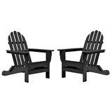 Seaway Plastic Folding Adirondack Chair (Set of 2)