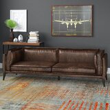 Diep Genuine Leather 94 Pillow top Arm Sofa by 17 Stories