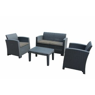 Pelletier 4 Piece Sofa Seating Group with Cushions by Ebern Designs
