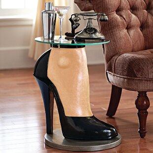 Stilettos Anyone Sculptural End Table by Design Toscano