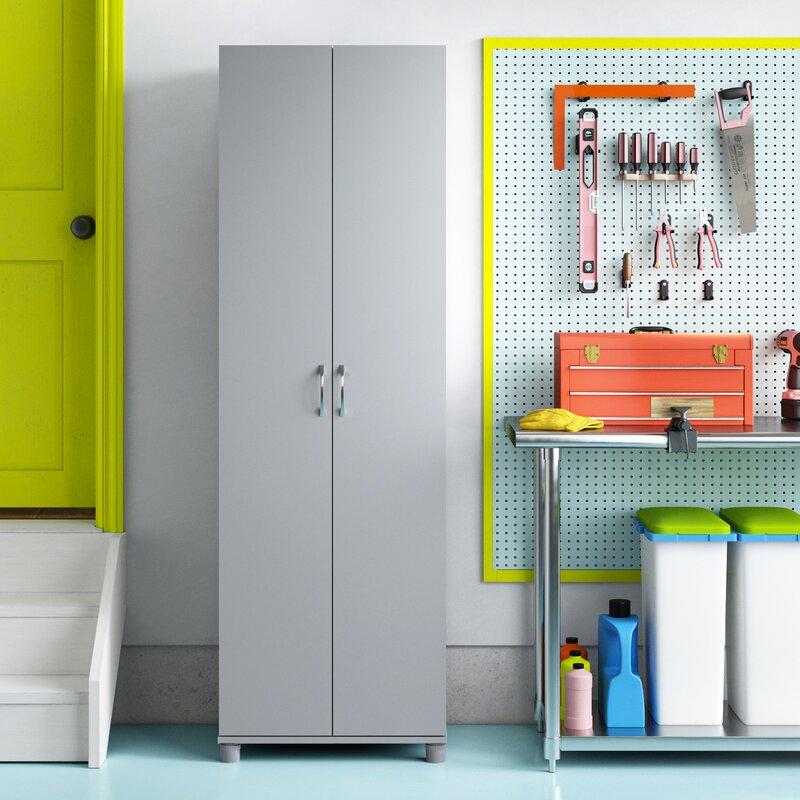 "Wayfair Basics 74"" H x 23.7"" W x 15"" D Springboro Storage Cabinet"