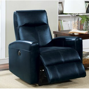 Latitude Run Tindal Motion Genuine Leather Power Recliner