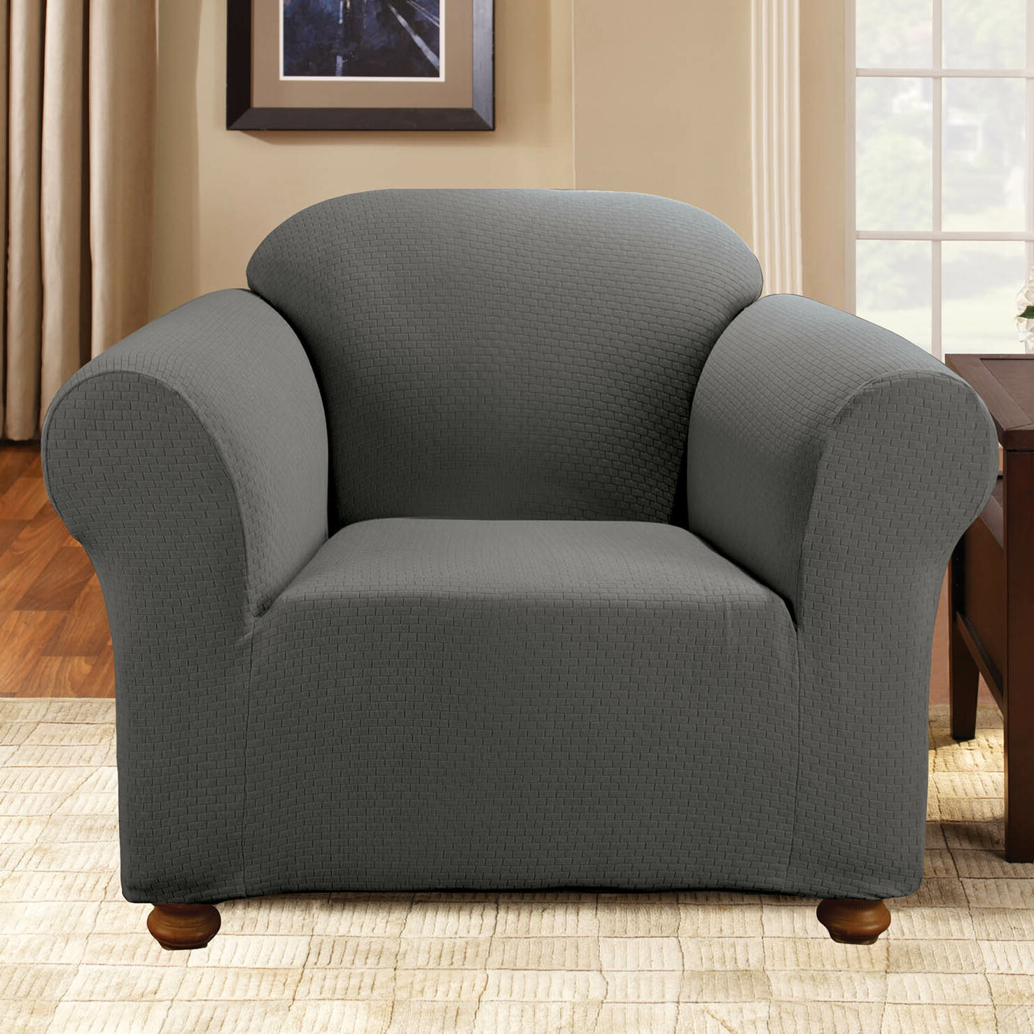 Sure Fit Stretch Subway Loveseat Slipcover Burgundy