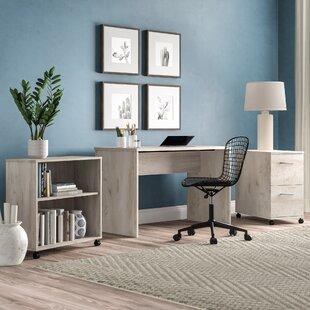 Emmet 3 Piece Desk Office Suite by Ebern Designs