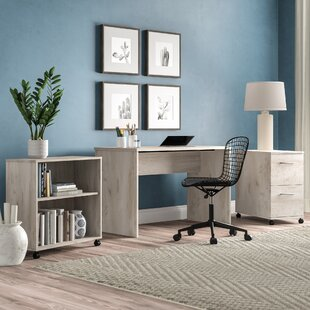 Topping 3 Piece Desk Office Suite by Ebern Designs Comparison