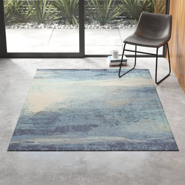 Derry Blue Gray Area Rug Reviews Allmodern