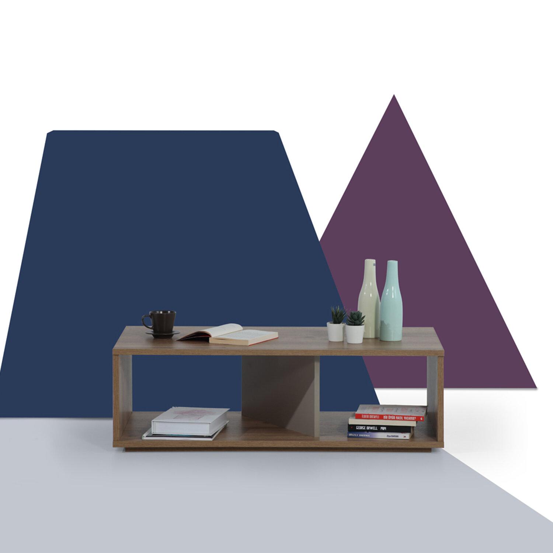 George Oliver Sebbie Floor Shelf Coffee Table With Storage Wayfair