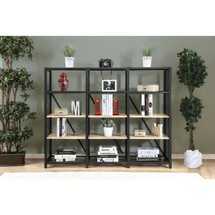 Rhoton 4 Tier Etagere Bookcase by Gracie Oaks