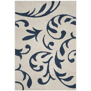 Affordable Diederich Blue/White Area Rug By Charlton Home