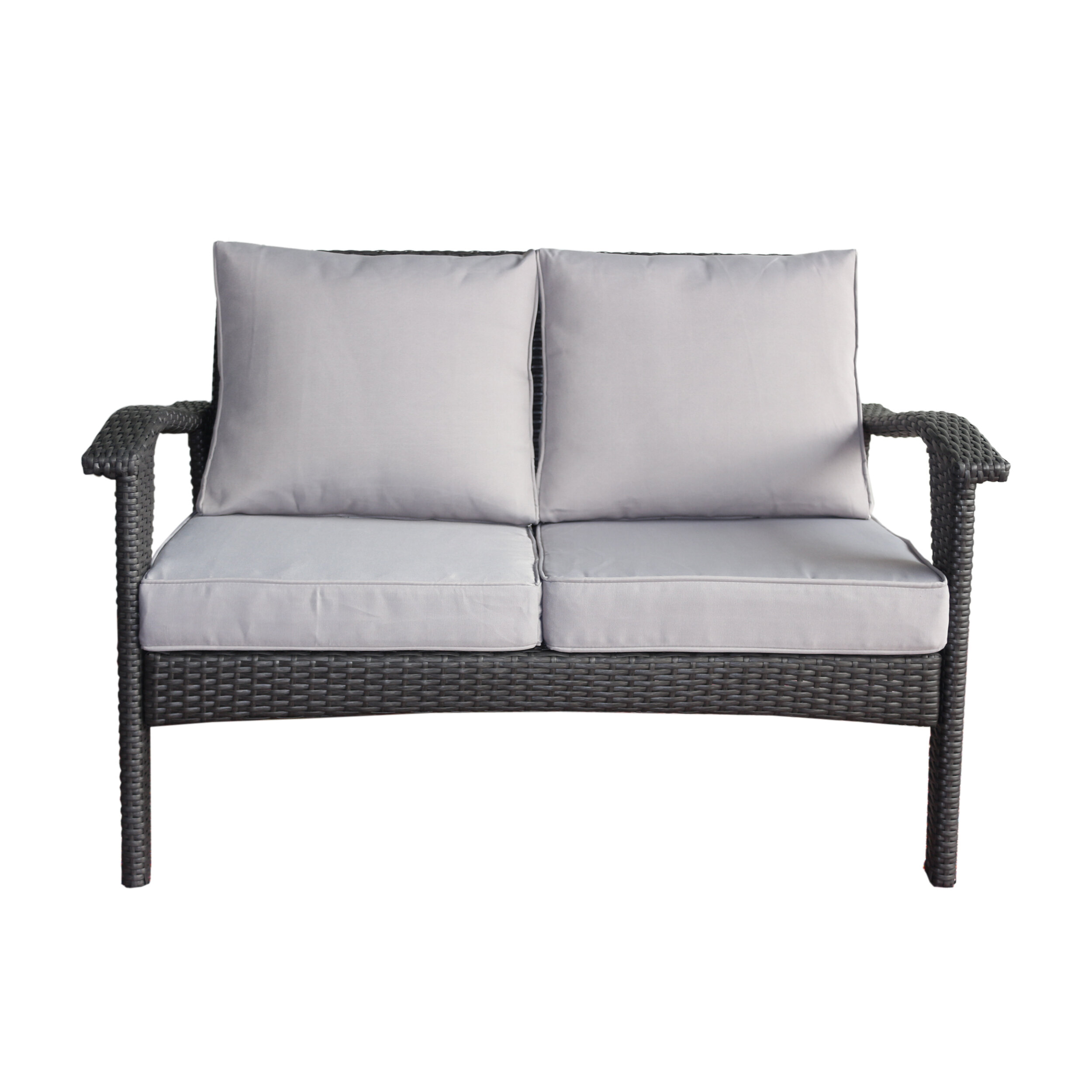 angle fog teak furniture loveseat warehouse outdoor usso patio