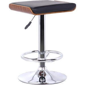 Bray Adjustable Height Swivel Bar Stool by Wade Logan