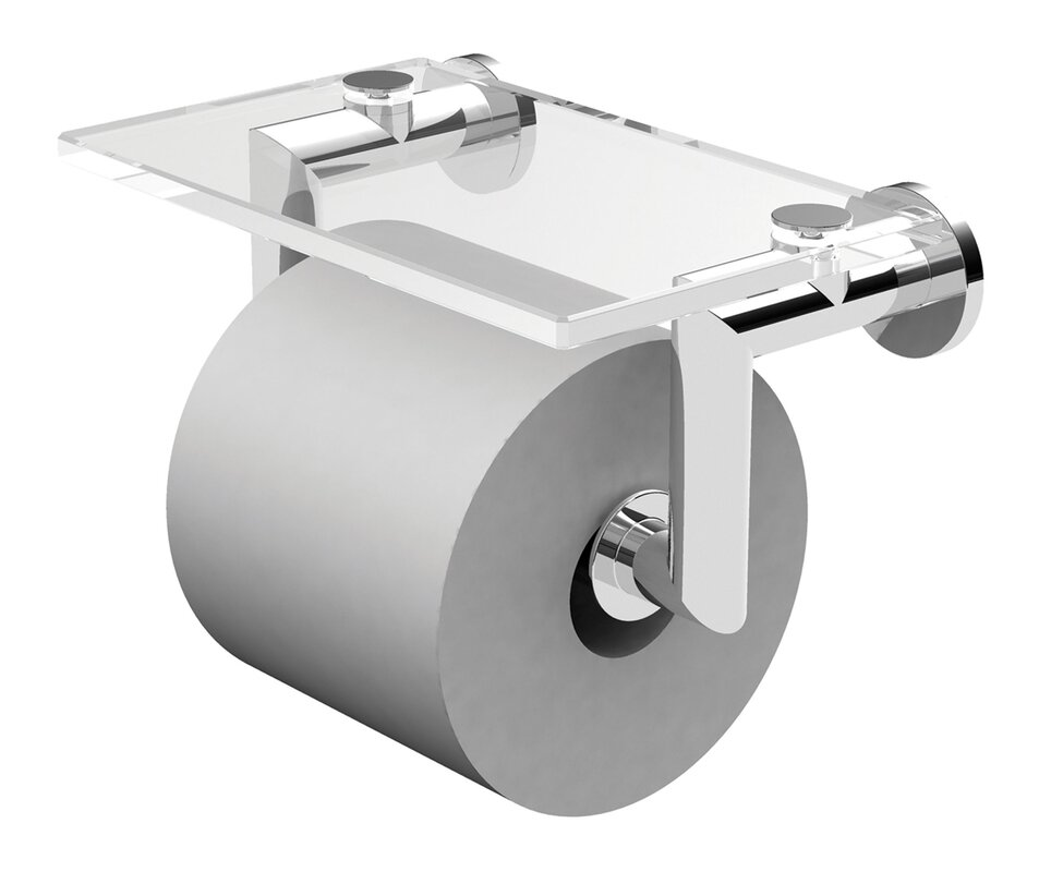 kubic double post wall mount toilet paper holder with cover