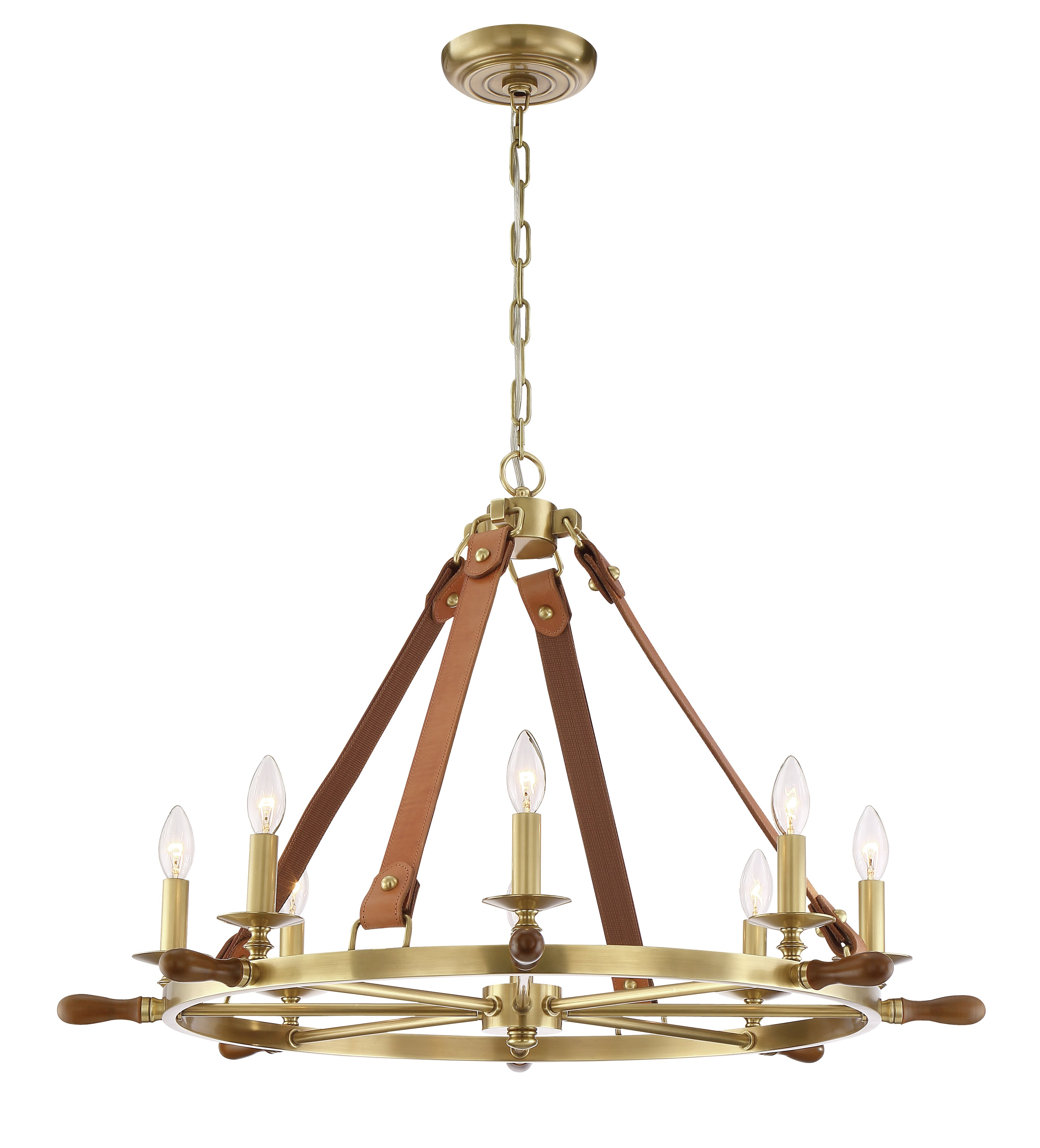 Zeev Carlisle 8 Light Candle Style Wagon Wheel Chandelier Perigold