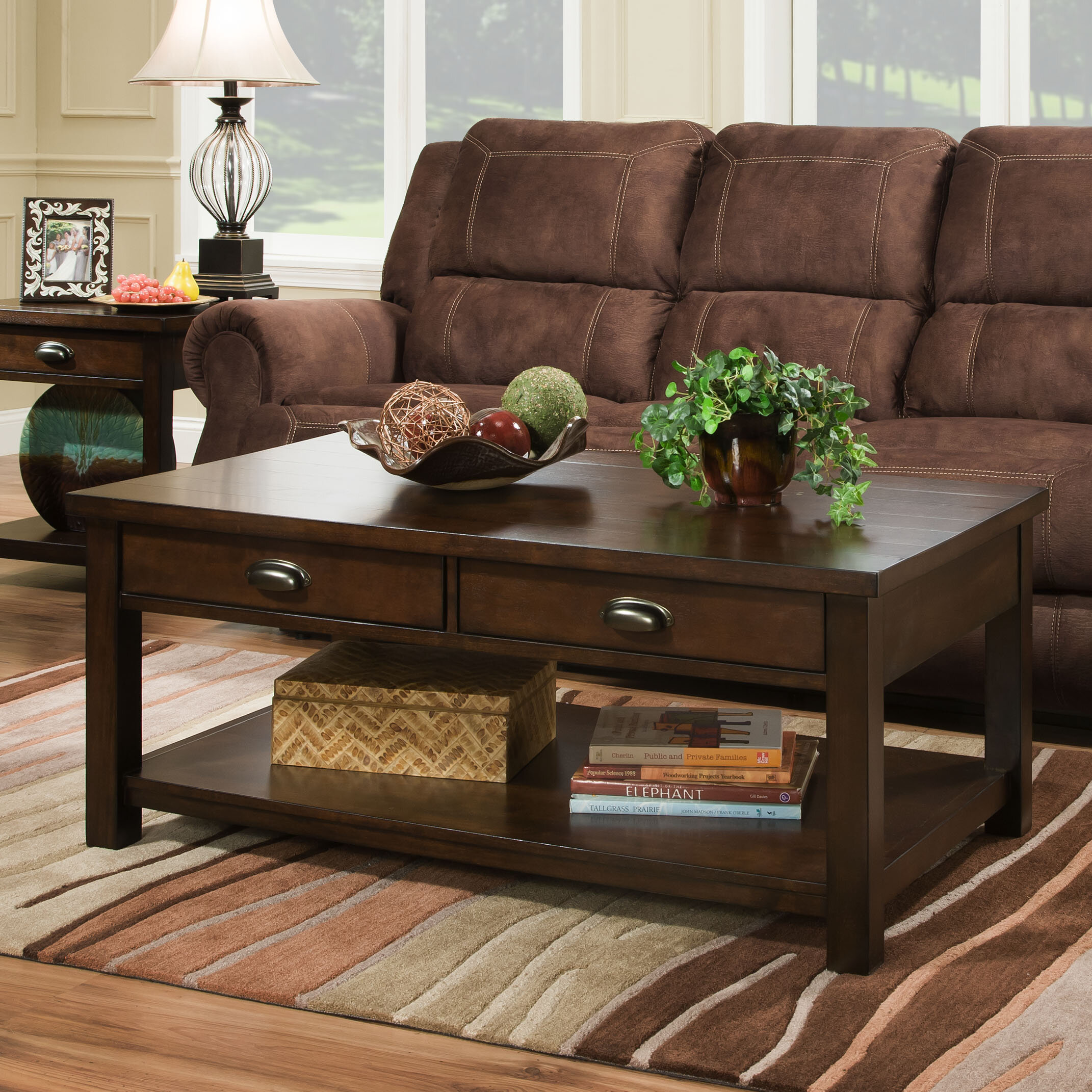 Alcott Hill Burley Rectangular Coffee Table by Simmons Casegoods