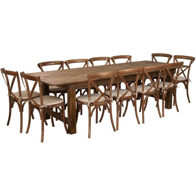 Attractive Pitre 13 Piece Dining Set