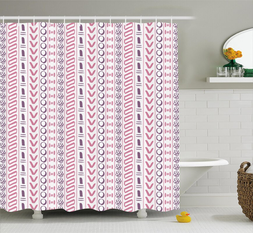 Bungalow Rose Cyrano Ancient Flowers Circles Shower Curtain ...