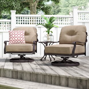 Lebanon Club Patio Chair With Cushion (Set Of 2) by Three Posts #2