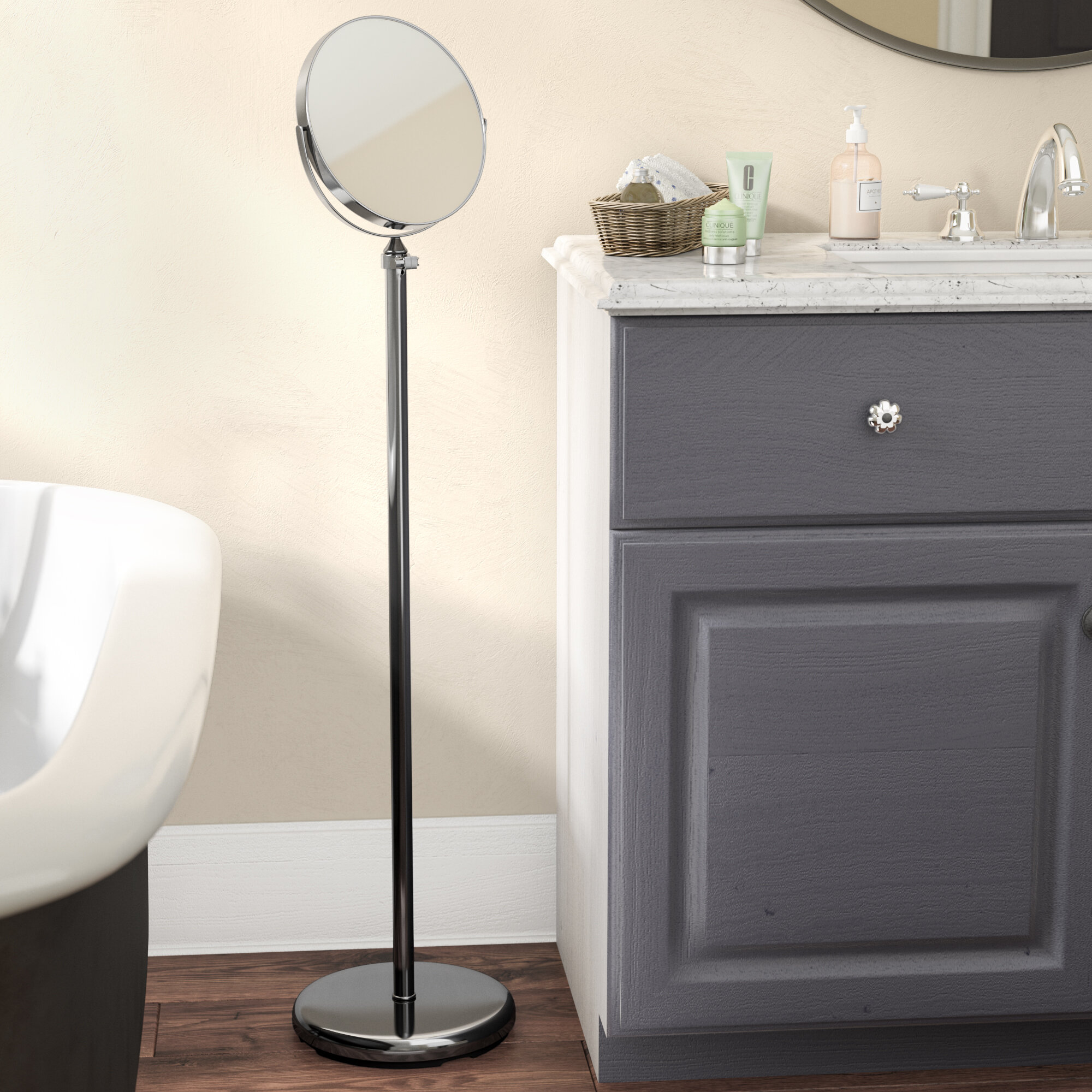 Andover Mills Adjustable Standing Full Length Mirror & Reviews | Wayfair