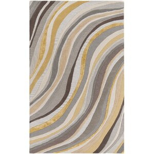 Pena Hand-Tufted Gray/Gold Area Rug