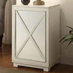 Criss-cross Door Wood Cabinet by Lamps Per Se