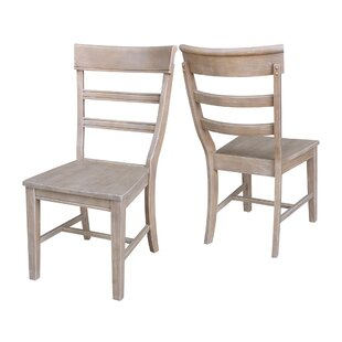 Salsbury Solid Wood Dining Chair (Set of 2) Breakwater Bay