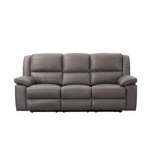 Watkin Genuine Leather 3 Seater Reclining Sofa By Brayden Studio