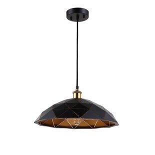 Wrought Studio Carrera Farmhouse 1-Light Dome Pendant