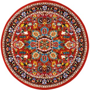 Cullens Red Area Rug by Bloomsbury Market