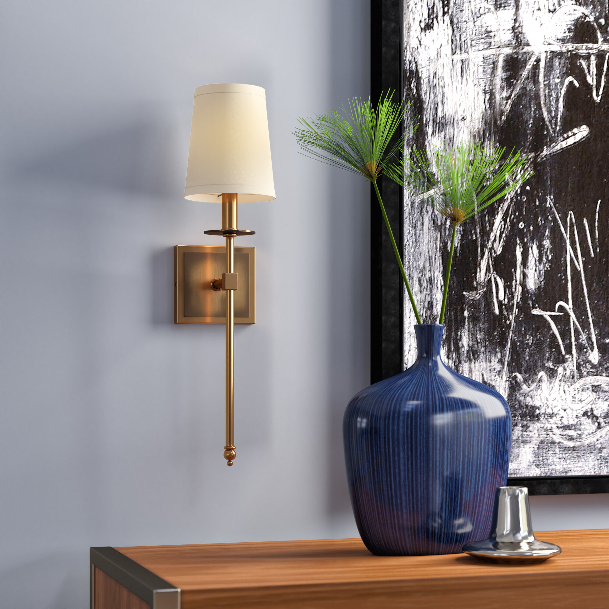 Fabric Wall Sconces You Ll Love In 2021 Wayfair