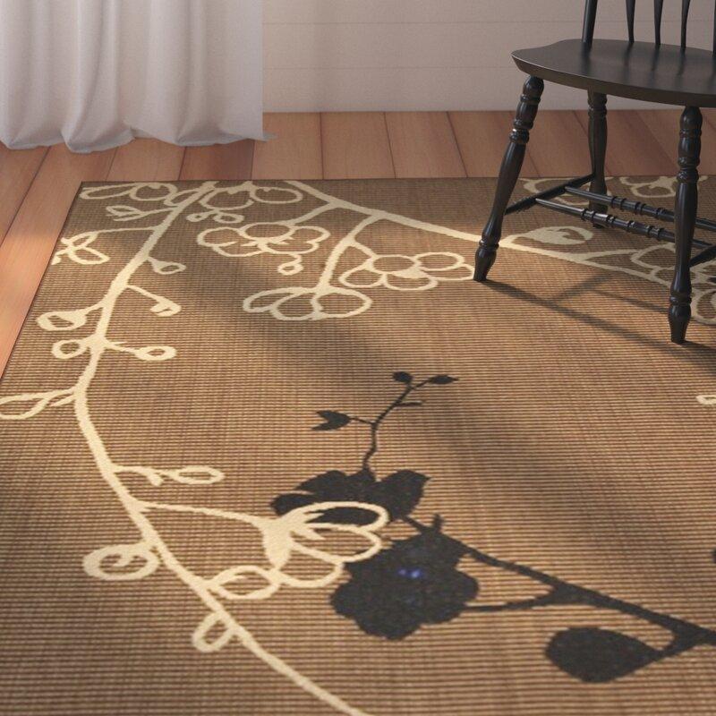 August Grove Wysocki Brown Black Indoor Outdoor Area Rug Reviews Wayfair