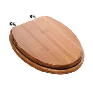 wooden toilet seat hinges. Premium Piano Wood Elongated Toilet Seat Comfort Seats  Wayfair