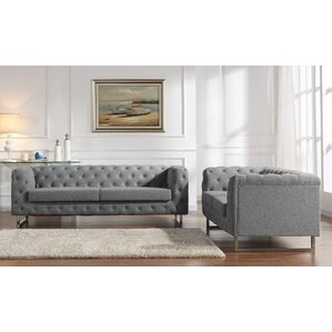 Scroll 2 Piece Living Room Set by Container