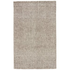 California Bay Solid Ivory/Gray Area Rug