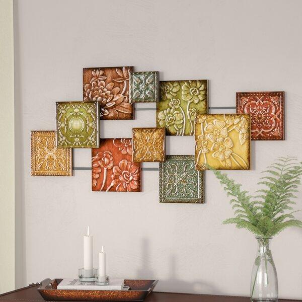 wall hangings for living room. Bijou Square Panel Wall D cor Metal Art