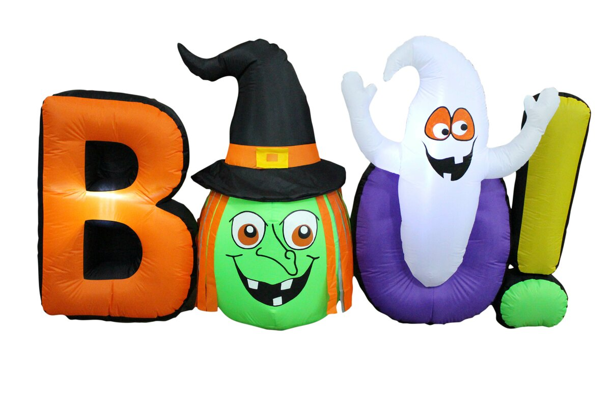 The Holiday Aisle Halloween Inflatable Witch Ghost BOO & Reviews ...