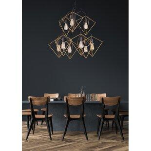 Jettie 9-Light Geometric Chandelier by Wrought Studio