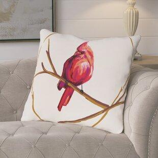 Agave Cardinal Print Outdoor Throw Pillow
