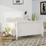 Roche Spellbinding Clean Wooden Sleigh Bed by August Grove®