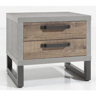 Ohare 2 Drawer Bedside Table By Mercury Row