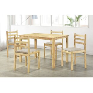 Damico Dining Set With 4 Chairs By Natur Pur